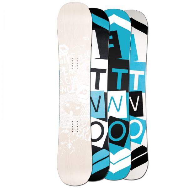 FTWO DAMEN FREESTYLE SNOWBOARD WHITEDECK WOOD WOMAN ~ 154 150 145 CM CAMBER