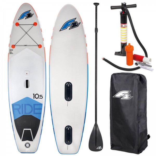 F2 RIDE WINDSURF INFLATABLE SUP SET  WINDSURFOPTION + BAG + PADDEL + PUMPE
