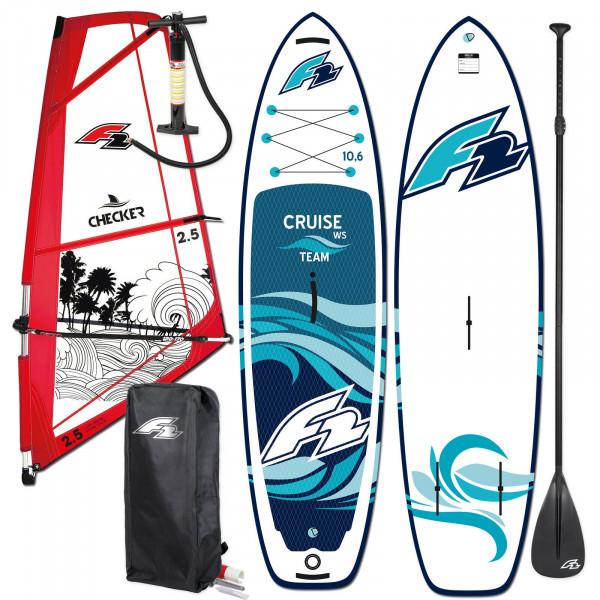F2 SUP Cruise Team Windsurf HFT 10,6' + F2 Checker Rigg