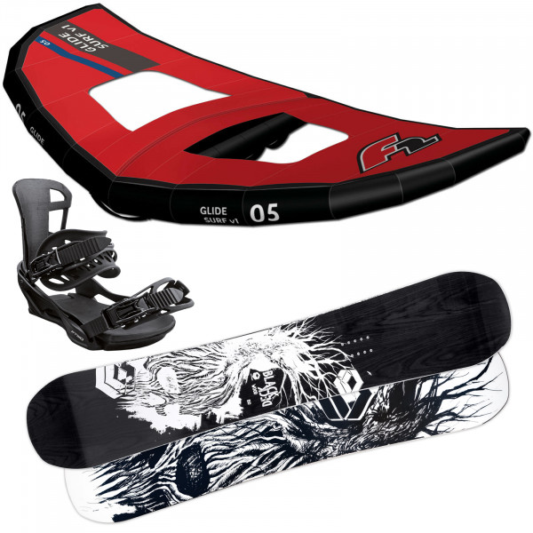 F2 Glide Surf Red + Blackdeck Wood + FTWO Sonic