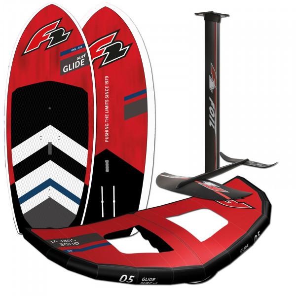 F2 GLIDE SURF 2022 HARD WING FOIL BOARD 90 LITER + FOILSET + WING 7m²