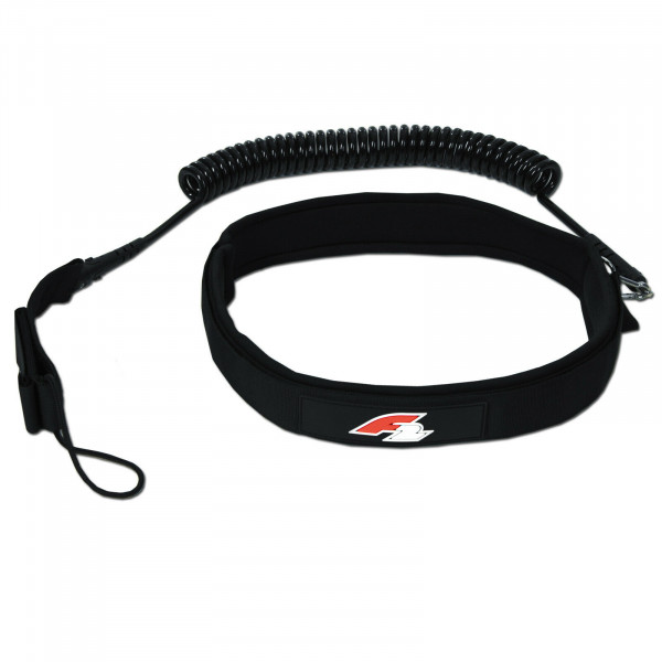 F2 SUP COILED HIP LEASH BLACK 2021 ~ STAND UP PADDLING HÜFT MANSCHETTE 200 CM