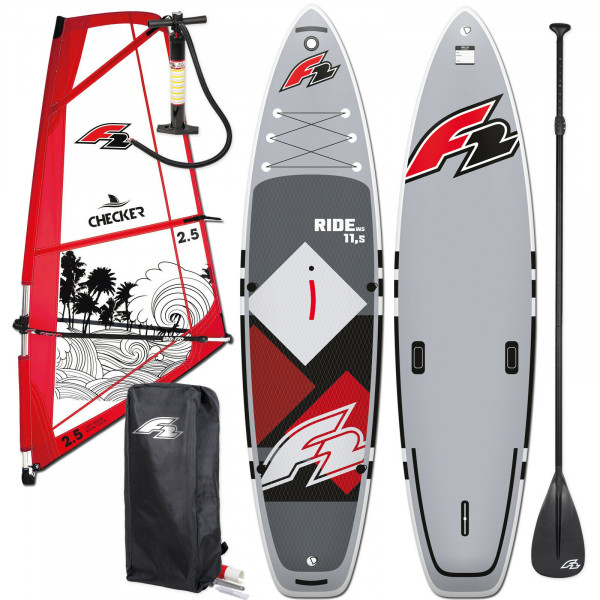 F2 SUP Ride Windsurf 10,5' + F2 Checker Rigg
