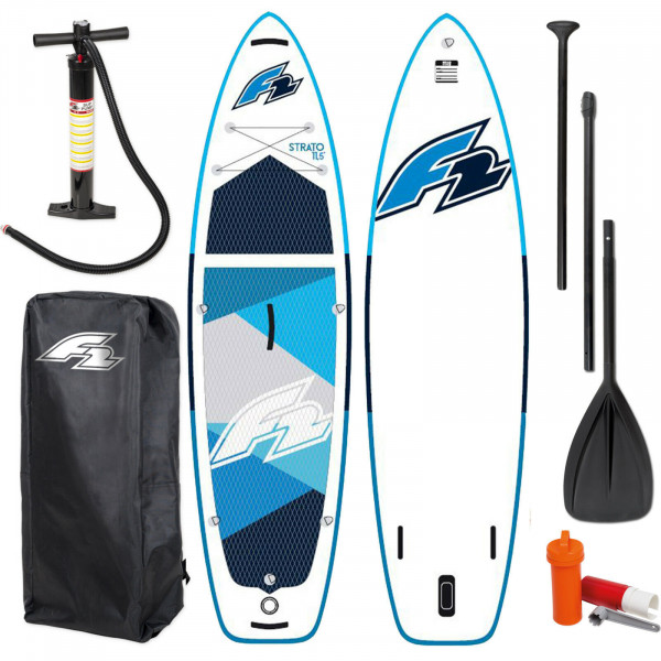 """F2 STRATO SUP 10,0"""" ~ BLUE 2021 STAND UP PADDLE BOARD + PADDEL + BAG + PUMPE"""